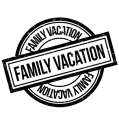 Family Vacation rubber stamp vector image