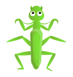 Female mantis icon cartoon style vector