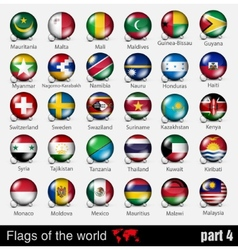 Flags of all countries in the 3d ball vector image