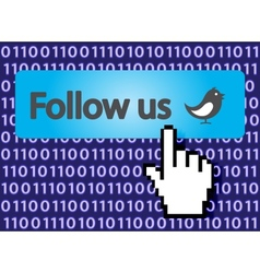 follow us vector image