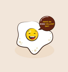 fried egg cartoon character vector image