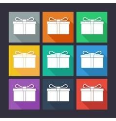 Gift box flat icons vector image vector image