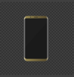 golden smartphone with modern design vector image