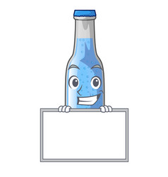 Grinning with board soda water and ice cubes vector