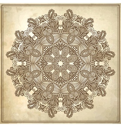 grunge background with lace ornament vector image