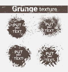 Grunge texture background set banner collection vector