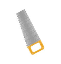 Handsaw construction tool icon vector