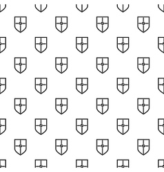 Heraldic shield pattern simple style vector image