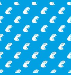 High ocean waves pattern seamless blue vector