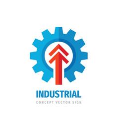 industrial gear arrow - business logo design vector image