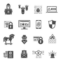 Internet security icon set vector