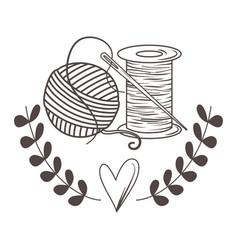 Isolated ball yarn and thread design vector