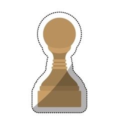 Isolated chess piece design vector image