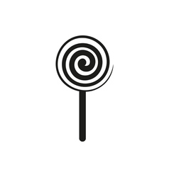lollipop sign icon isolated vector image