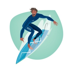 Man on a surfboard vector image