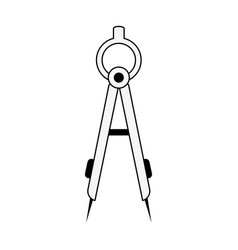 Measuring compass stationery supply icon image vector