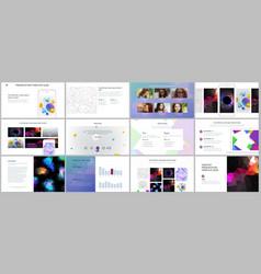 Minimal presentation portfolio templates vector