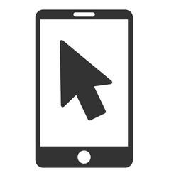 mobile arrow pointer flat icon vector image