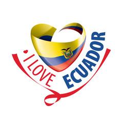 national flag ecuador in shape vector image