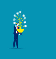 people and money currency tree concept business vector image