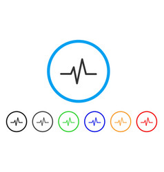 Pulse curve rounded icon vector
