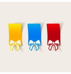 Realistic design element ribbon vector