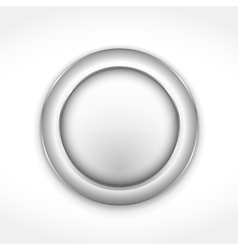 Round Gray Button vector image