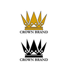 royal crown set vector image