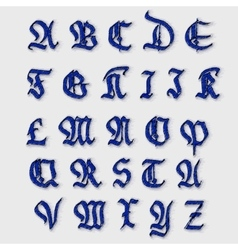 Set Gothic abc vector image