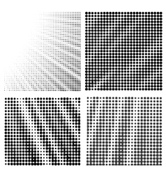 Set of Halftone Patterns vector image vector image