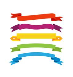 set retro ribbons and labels vector image