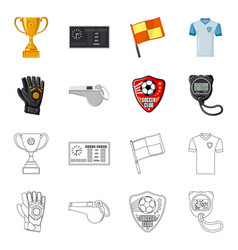 Soccer and gear logo set vector