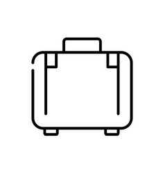 suitcase luggage tourism travel thick line vector image