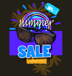 summer sale template banner vector image