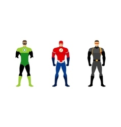Superhero costumes isolated set vector image