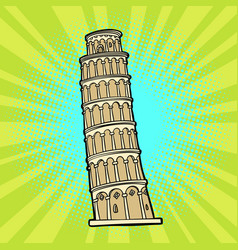 Tower of pisa italy tourism vector