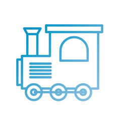 train toy children locomotive miniature vector image
