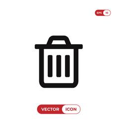 trash icon garbage symbol can bin delete and vector image