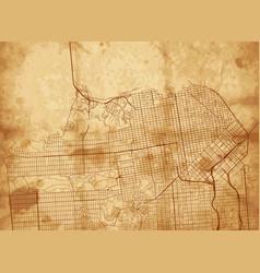 vintage map san francisco vector image