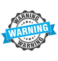 Warning stamp sign seal vector
