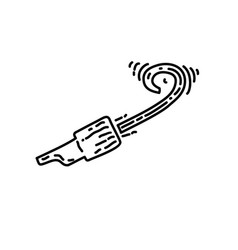 whistle icon doddle hand drawn or black outline vector image