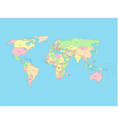 World map with names sovereign countries and vector