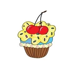 Cartoon cupcake simple vector image