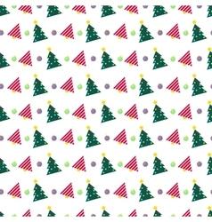 Christmas Seamless Pattern with Christmas Tree vector image