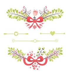 Felegant floral decorative elements vector