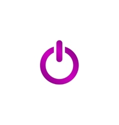 Flat icon of power vector image