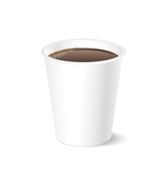 Opened take-out coffee isolated on a white vector image