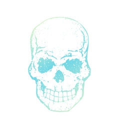 skull with tender gradient isolated on white vector image vector image