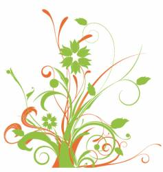 floral graphic arrangement vector image vector image