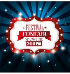 poster festival funfair light background vector image